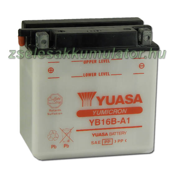 Yuasa YB16B-A1 12V 16Ah Motor akkumulátor