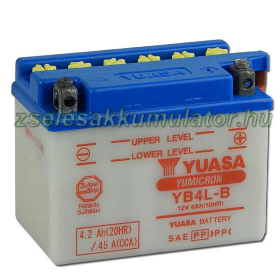 Yuasa YB4L-B 12V 4Ah Motor akkumulátor sav csomaggal