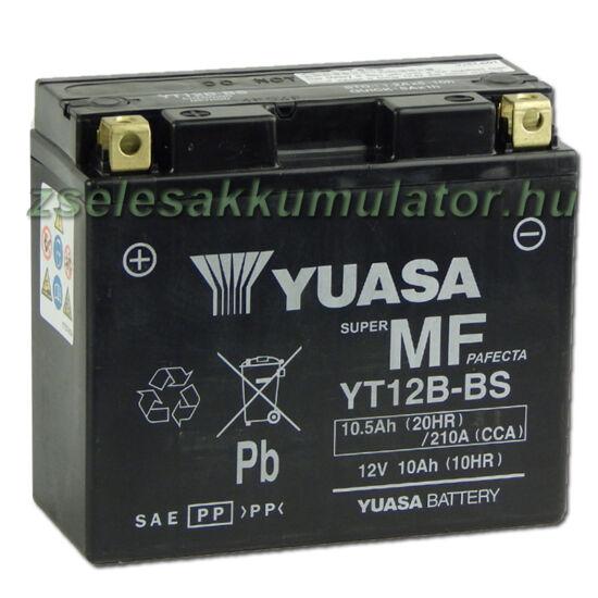 Yuasa YT12B-4 12V 10Ah gondozásmentes AGM (zselés) motor akkumulátor