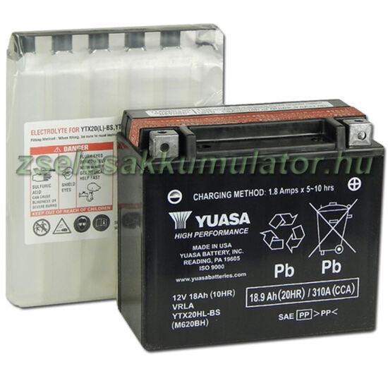 Yuasa YTX20HL-BS 12V 18Ah gondozásmentes AGM (zselés) motor akkumulátor