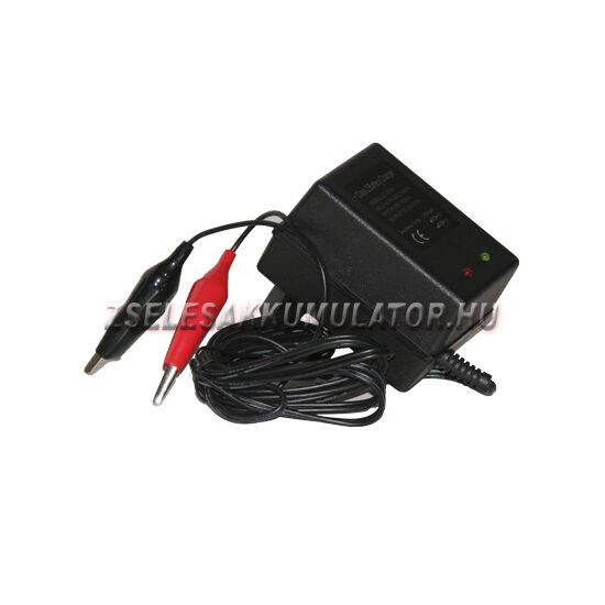 Zselés akkumulátor töltő 12V 0,8A töltőáram
