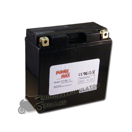 Power Max GT14B-4 12V 12Ah Motor akkumulátor