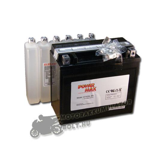 Power Max GTX20L-BS 12V 18Ah Motor akkumulátor