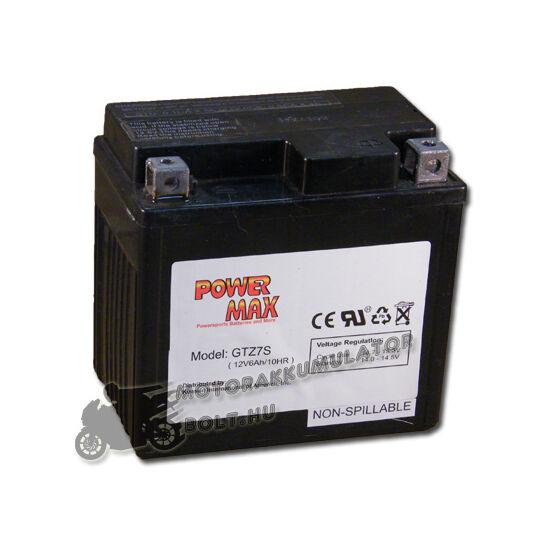 Power Max GTZ7-S 12V 6Ah Motor akkumulátor