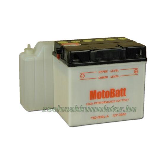MotoBatt Y60N30L-A (sav csomagos) 12V 30Ah Motor akkumulátor