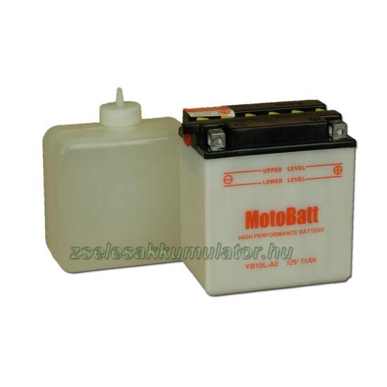 MotoBatt YB10L-A2 (sav csomagos) 12V 11Ah Motor akkumulátor
