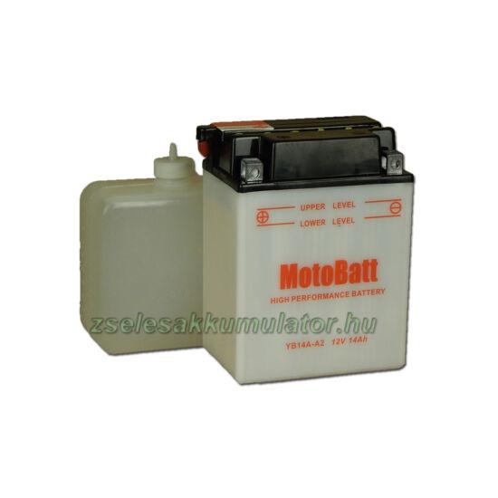 MotoBatt YB14A-A2 (sav csomagos) 12V 14Ah Motor akkumulátor