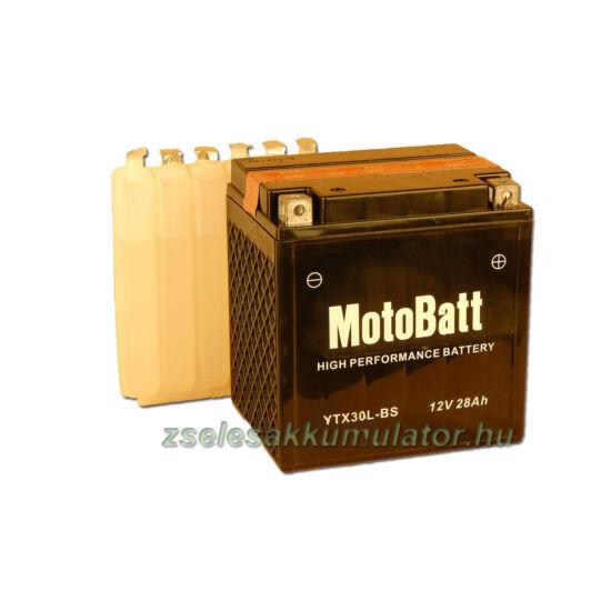 MotoBatt YTX30L-BS 12V 28Ah Motor akkumulátor