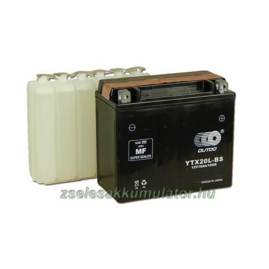 OUTDO YTX20L-BS 12V 18Ah Motor akkumulátor