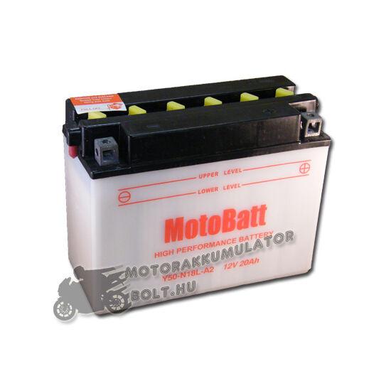 MotoBatt Y50N18L-A2 12V 20Ah Motor akkumulátor